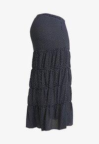 Topshop Maternity - SPOT TIERED MIDAXI - Długa spódnica - navy - 4