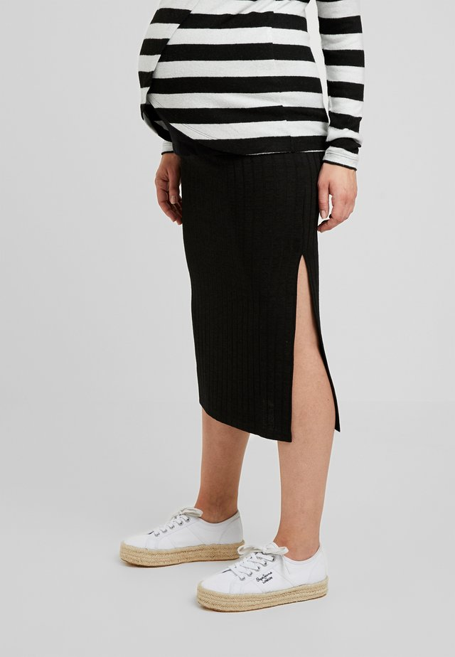 MIDI SKIRT - Pennkjol - black