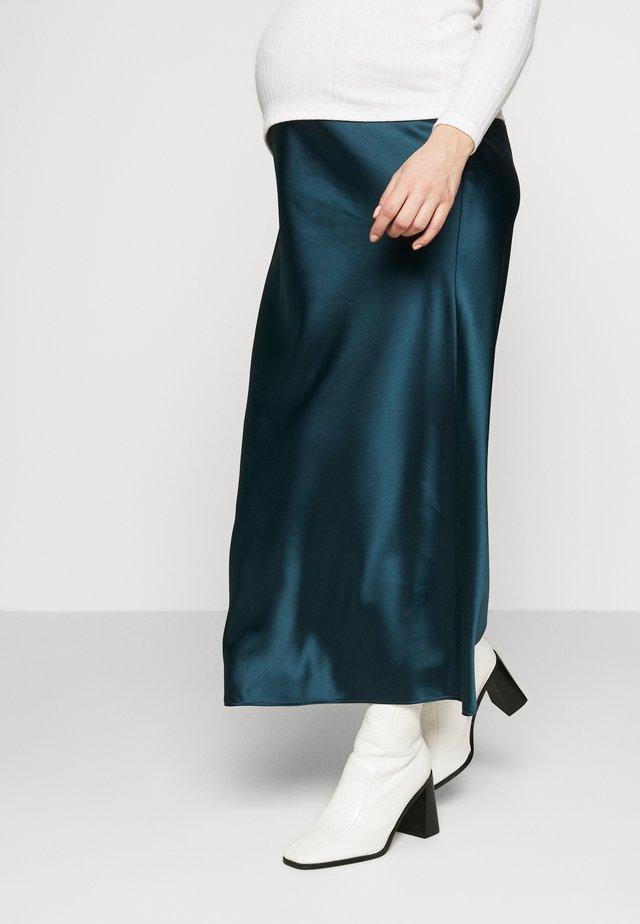 MAXI - Pencil skirt - petrol