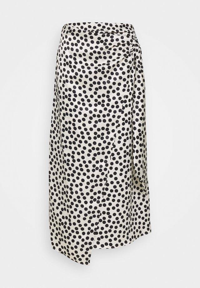 SPOT PRINT SARONG - Pencil skirt - mono