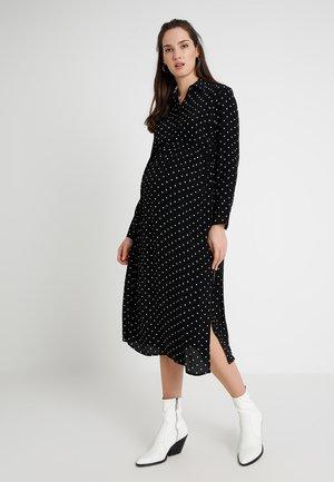 SPOT PLEAT - Długa sukienka - black