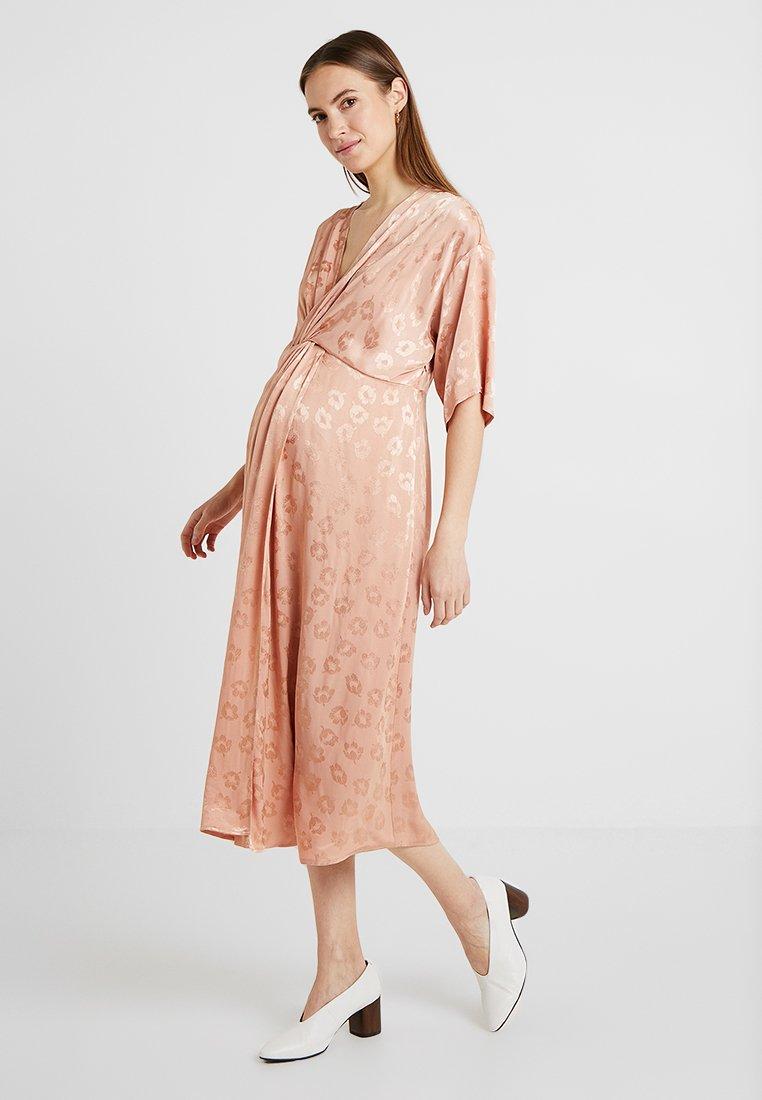 Topshop Maternity - KNOT MIDI - Korte jurk - nude