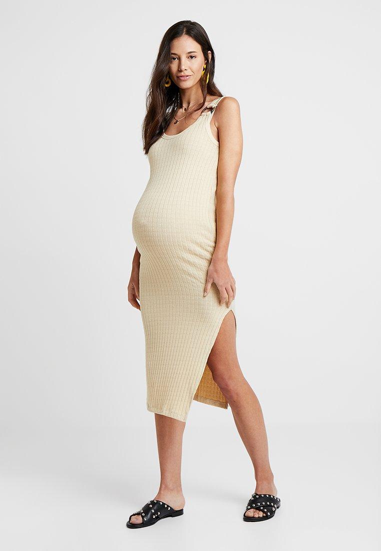 Topshop Maternity - NATURAL RING COLOUMN - Vestito di maglina - stone