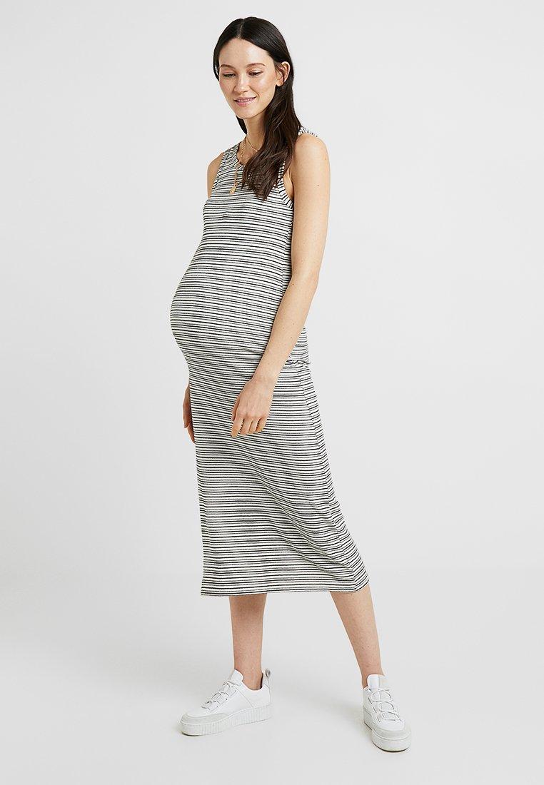 Topshop Maternity - NATURAL STRIPE COLUMN MIDI - Sukienka z dżerseju - stone