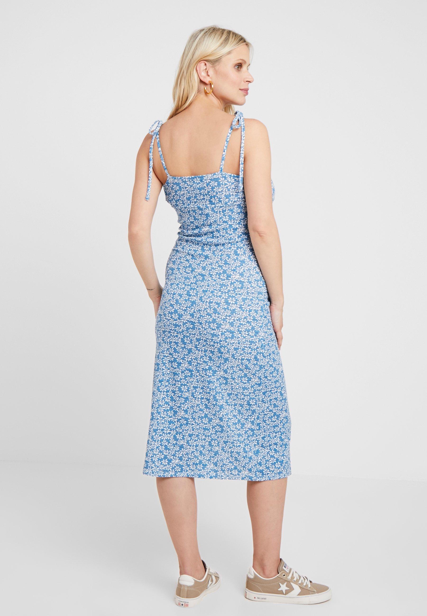 DressRobe Jersey Blue En Twist Maternity Topshop Ditsy vnm08Nw