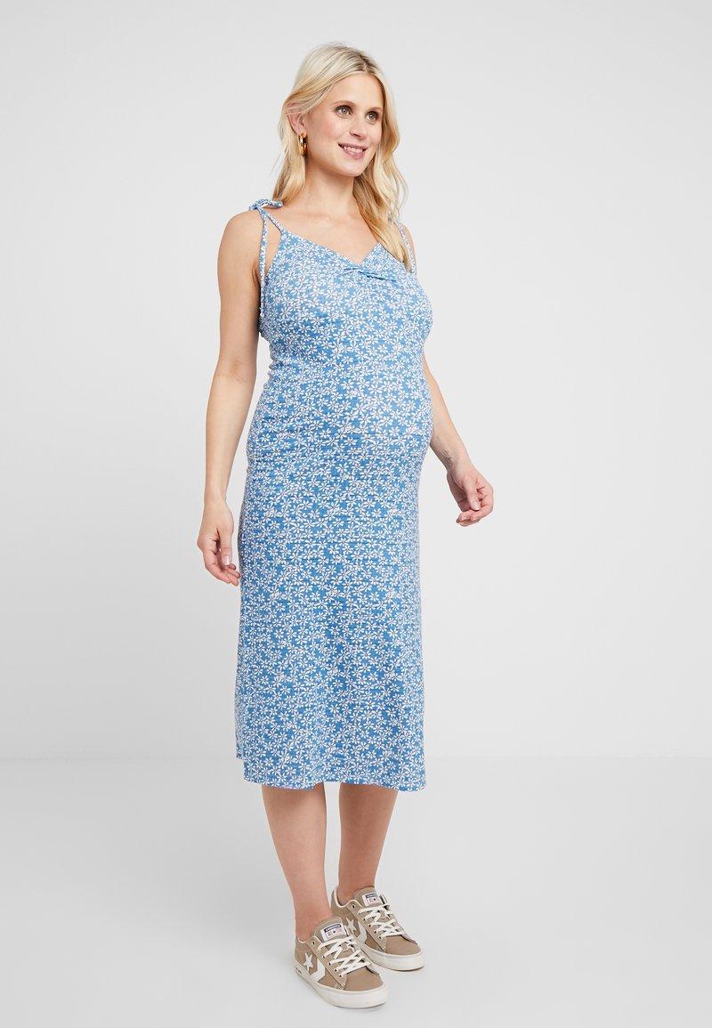 Topshop Maternity - DITSY TWIST DRESS - Sukienka z dżerseju - blue