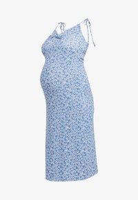 Topshop Maternity - DITSY TWIST DRESS - Sukienka z dżerseju - blue - 4