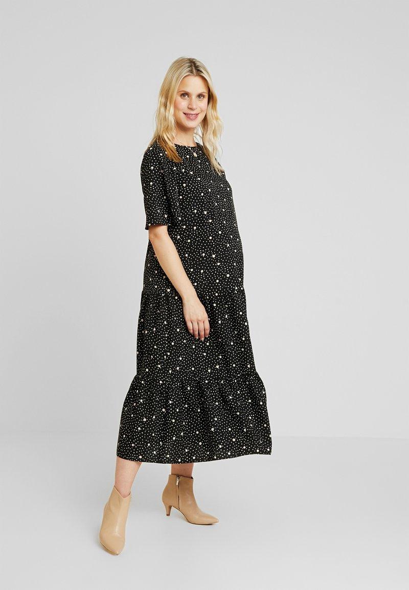 Topshop Maternity - POLKA SMOCK DRESS - Jerseykleid - mono