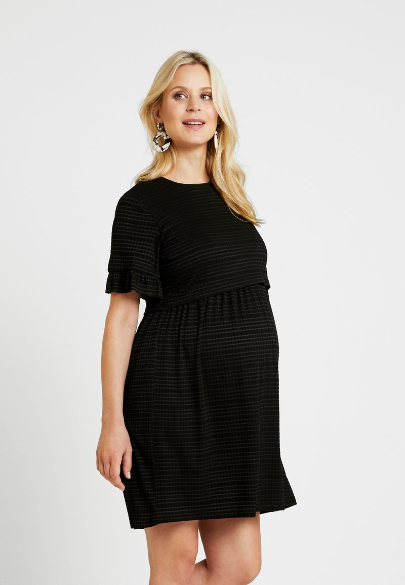 Topshop Maternity - SMOCK DRESS - Jerseykleid - black