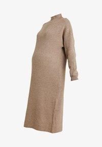 Topshop Maternity - DRESS - Stickad klänning - mink - 5