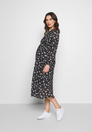 ANIMAL SMOCK MIDI - Jerseykjoler - black/white