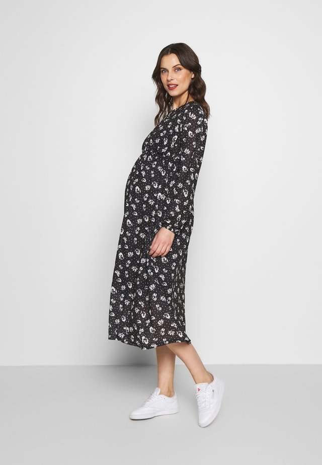 ANIMAL SMOCK MIDI - Jerseyklänning - black/white