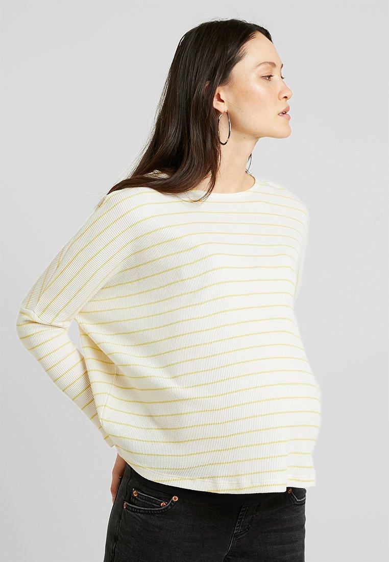 Topshop Maternity - WAFFLE TEE - Langarmshirt - yellow