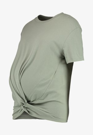 KNOT FRONT TEE - T-shirt med print - sage
