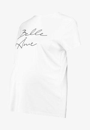 BELLE AMI TEE - T-shirt z nadrukiem - white