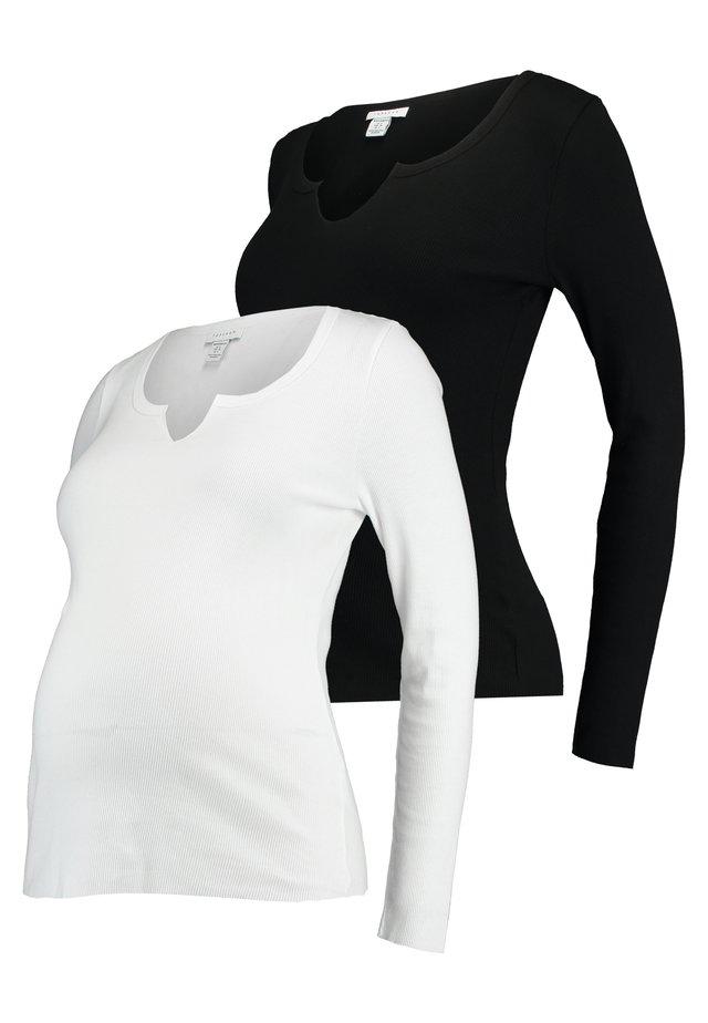 NOA NOTCH 2 PACK - Langarmshirt - black/white