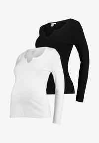 Topshop Maternity - NOA NOTCH 2 PACK - T-shirt à manches longues - black/white - 4