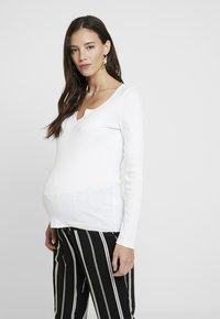 Topshop Maternity - NOA NOTCH 2 PACK - T-shirt à manches longues - black/white - 0