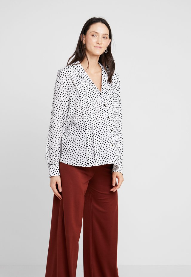 SPOT PLEAT - Skjorta - white