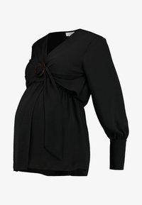 Topshop Maternity - NURSING BUCKLE BLOUSE - Bluzka - black - 4