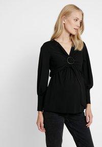 Topshop Maternity - NURSING BUCKLE BLOUSE - Bluzka - black - 0