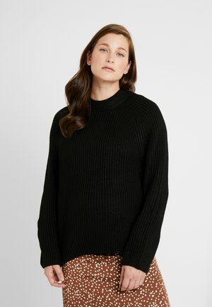 POPPER SIDE - Stickad tröja - black