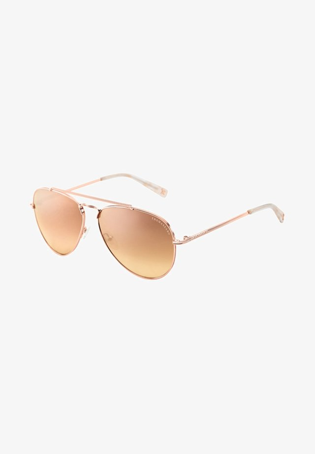 Sonnenbrille - rose gold-glossy/pink-glossy