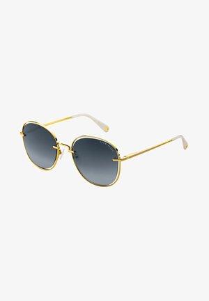 Solbriller - yellow gold-shiny/cream-white glossy