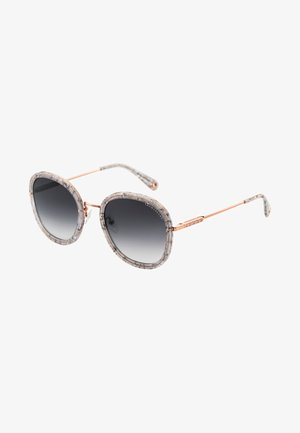Sonnenbrille - rose gold shiny/gray glossy