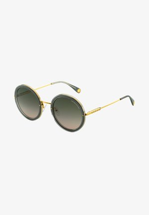 Sonnenbrille - yellow gold-shiny/green-gray shiny