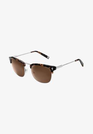 Solbriller - silvery-shiny, havana dark brown-shiny
