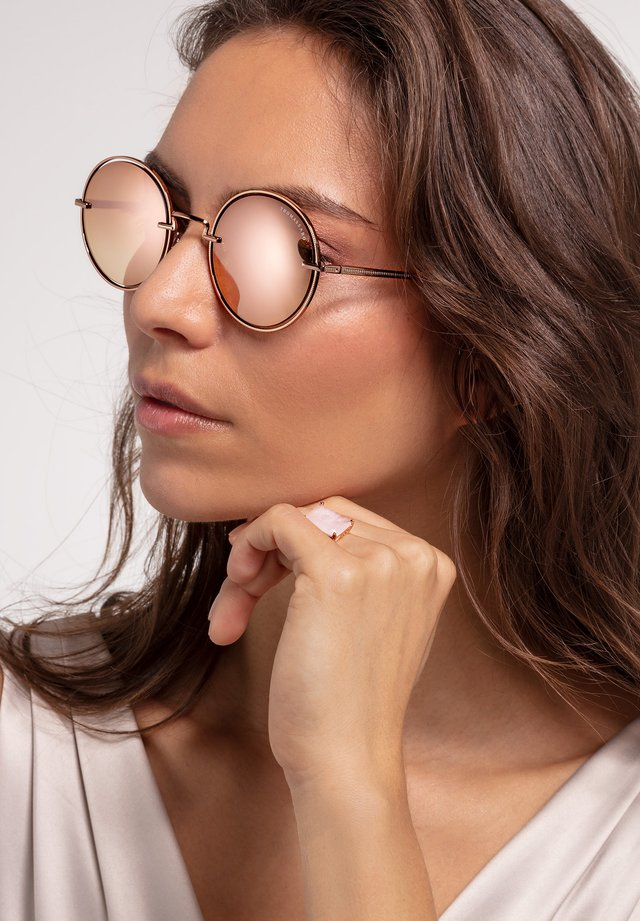 Occhiali da sole - rose gold-shiny/pink-polished
