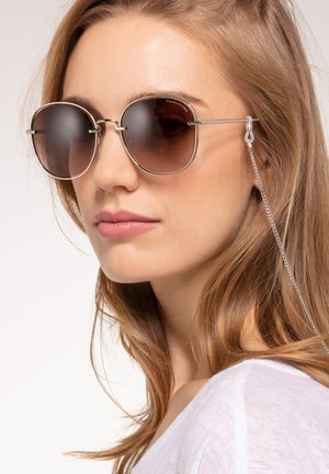 Sunglasses - Silver-shiny/cream-white glossy