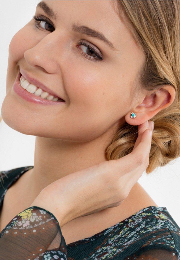 THOMAS SABO - ETHNO - Earrings - silver-coloured/turquoise