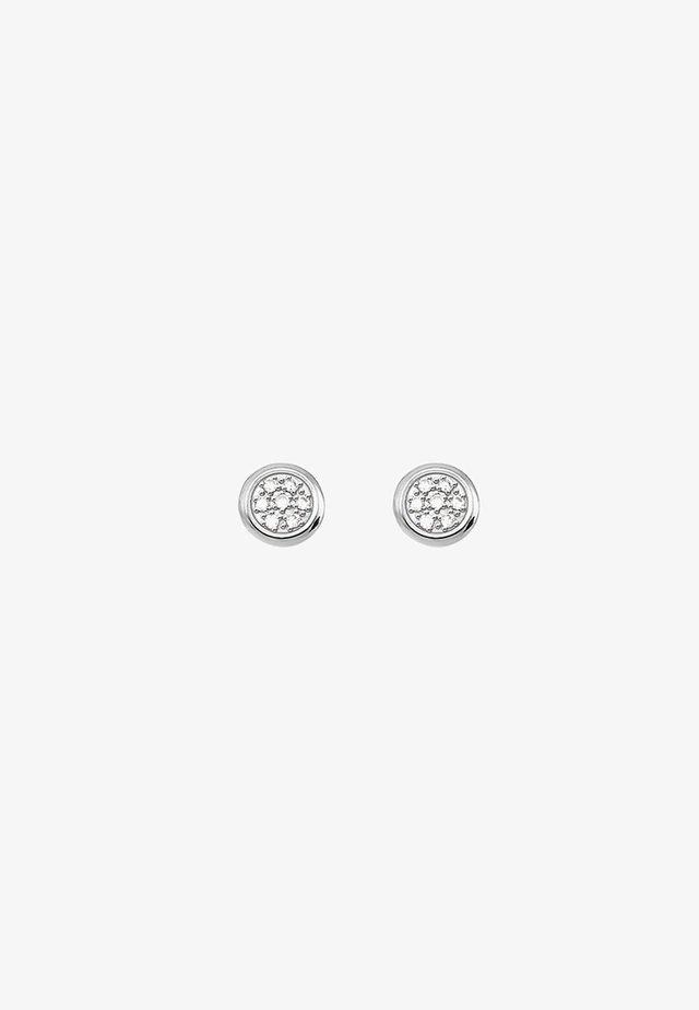 SPARKLING CIRCLES - Ohrringe - silver-coloured/white