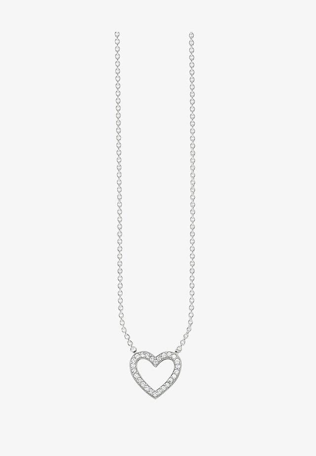 HERZ - Halskette - silver-coloured/white