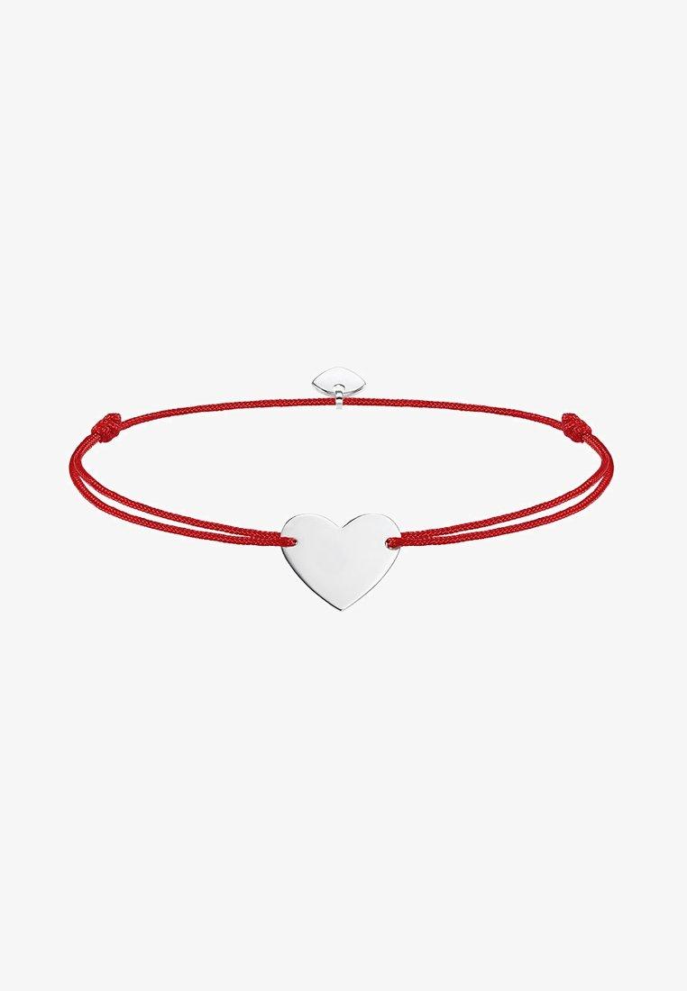 THOMAS SABO - LITTLE SECRET HERZ - Armband - silver-coloured/red