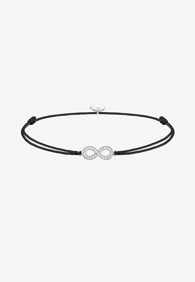 LITTLE SECRET INFINITY - Armband - silver-coloured/black/white