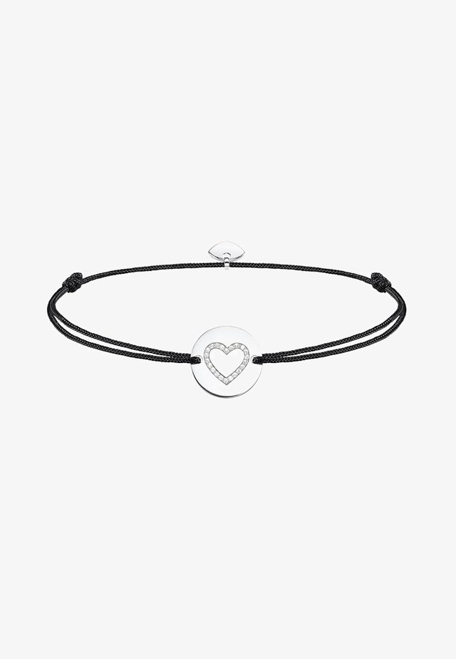 LITTLE SECRET HERZ - Armband - silver-coloured/black/white