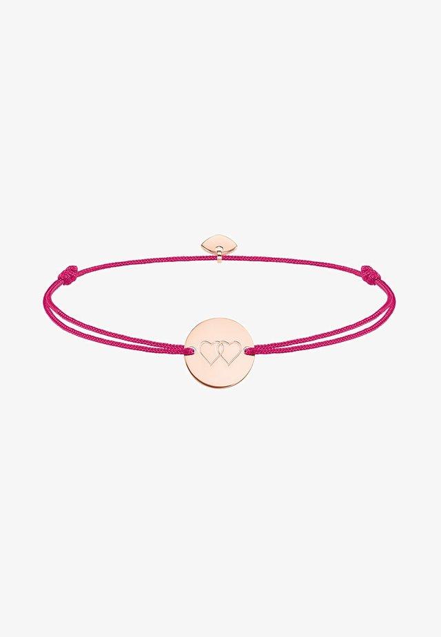 LITTLE SECRET HERZEN - Bracelet - rosegold-coloured/pink