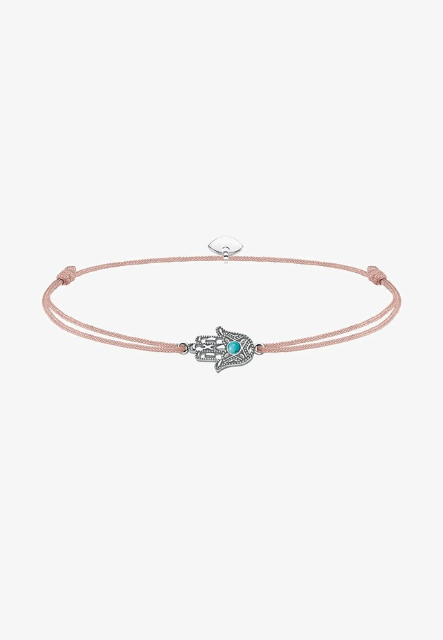 LITTLE SECRET FATIMAS HAND - Armband - silver-coloured/beige/turquoise