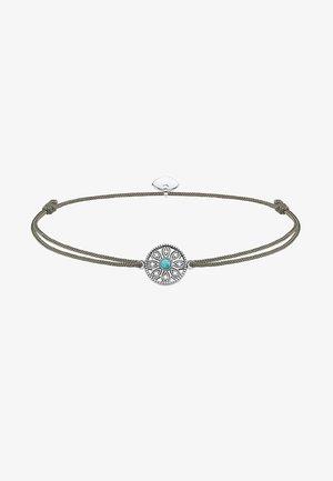 LITTLE SECRET ETHNO AMULETT - Bracelet - silver-coloured/grey/turquoise