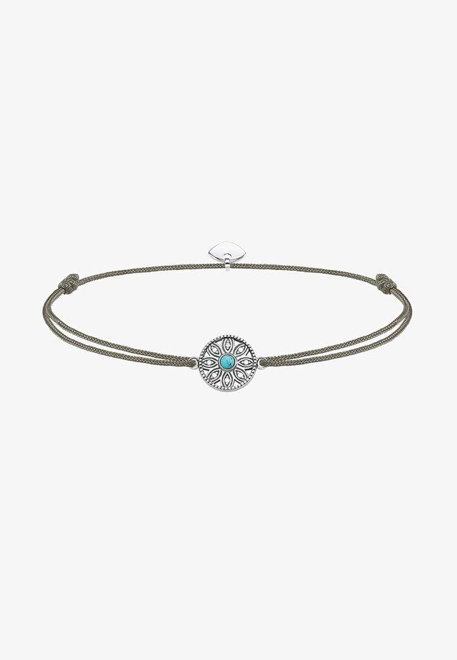LITTLE SECRET ETHNO AMULETT - Armband - silver-coloured/grey/turquoise