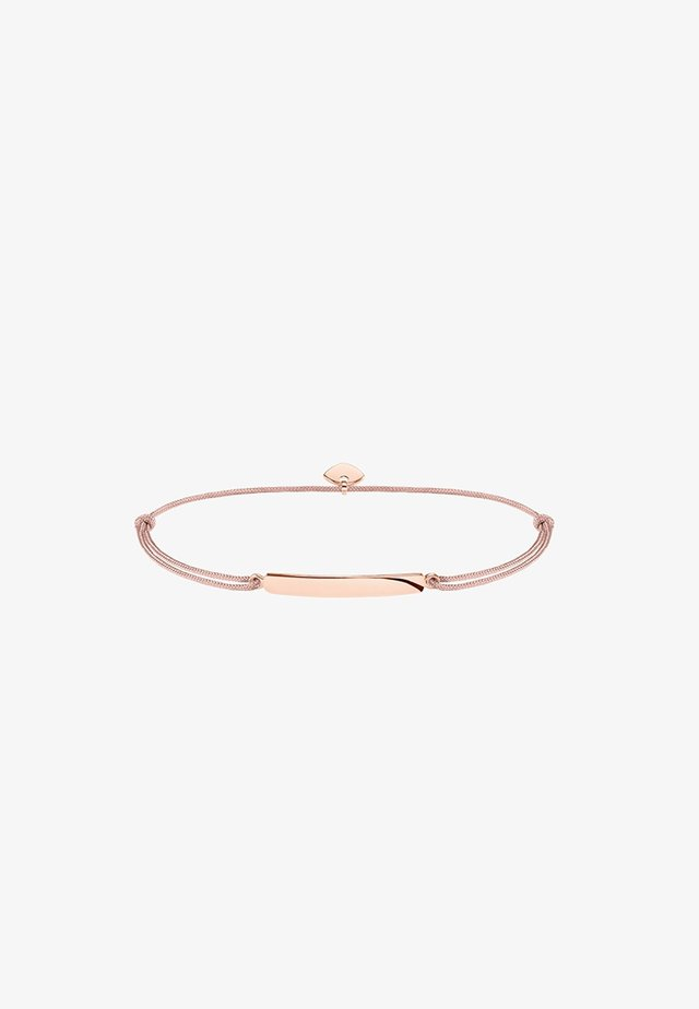 LITTLE SECRET - Bracelet - rosegold-coloured/beige