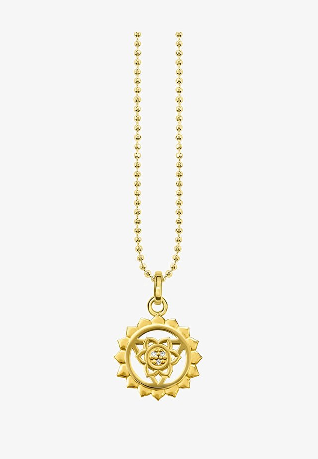 Necklace - gold-coloured/white