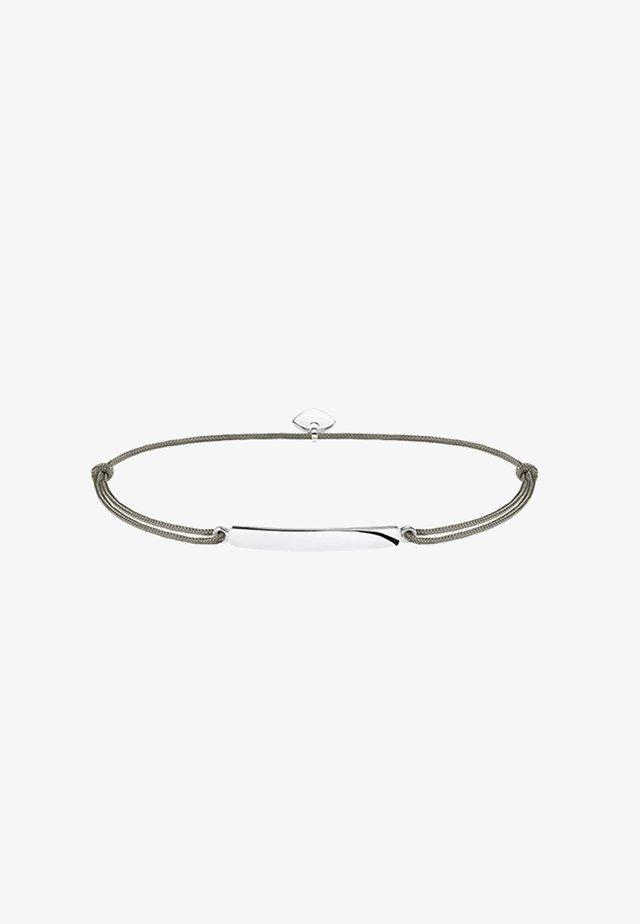 LITTLE SECRET - Armband - silver-coloured/ green