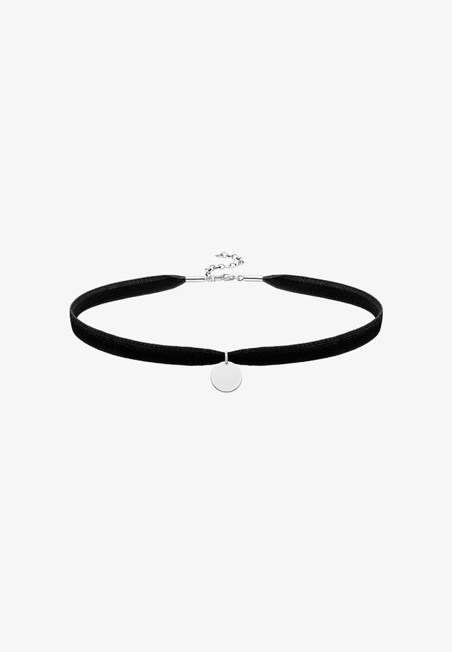 CHOKER SET - Necklace - silver-coloured/black