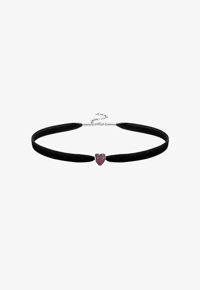 CHOKER SET - Necklace - silver-coloured/red