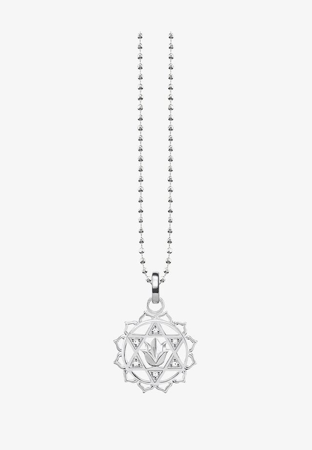 Necklace - silver-coloured/white