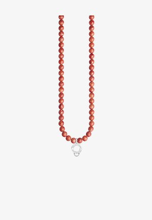 Necklace - silver-coloured/red